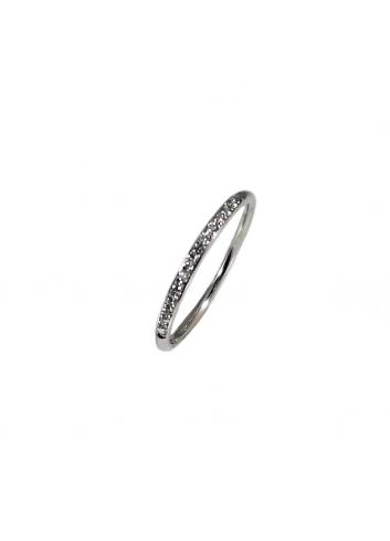 anillo alianza de oro blanco con diamantes