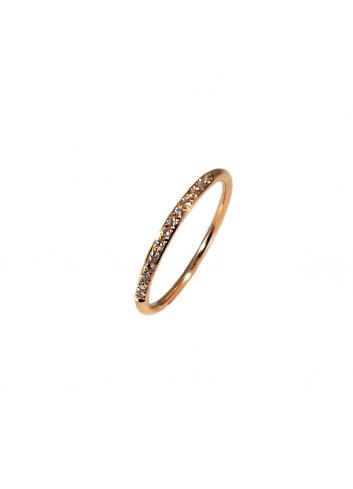 anillo alianza de oro rosa con diamantes