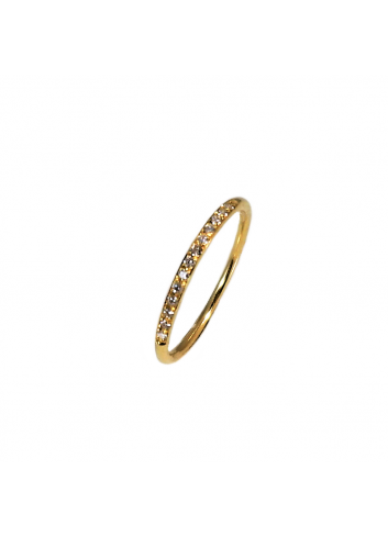 anillo alianza de oro amarillo con diamantes