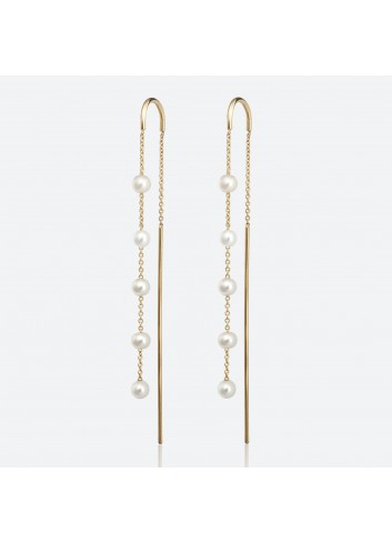 pendientes balance five drops gold & roses, gold&roses